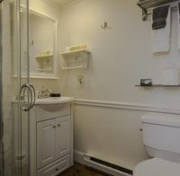 white bathroom with white fixtures