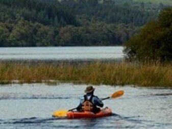 man on kayak in lake