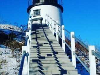 lighthouse with steps leading up