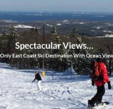 people skiing down snowy mountianside