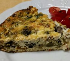 Quiche with roasted tomatoes