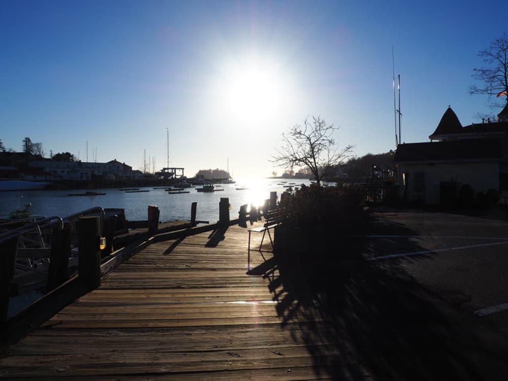 pier next to water